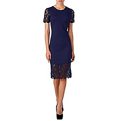 Zibi London - Navy lace trim shift dress