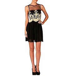 Zibi London - Black gold corded dress