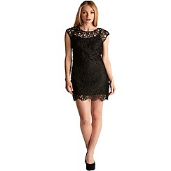 Zibi London - Black crochet lace dress