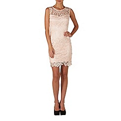 Zibi London - Pink thick lace dress