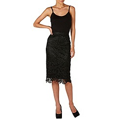 Zibi London - Black lace pencil skirt