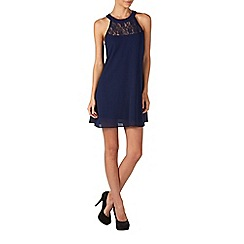 Zibi London - Navy lace neck swing dress