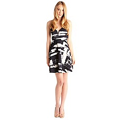 Zibi London - Black abstract print dress