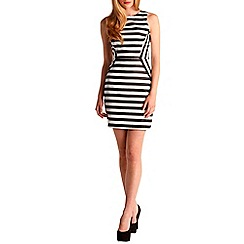 Zibi London - Black stripe tulip dress