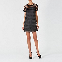 Zibi London - Black stripe organza dress