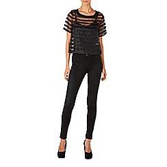 Zibi London - Black stripe organza top
