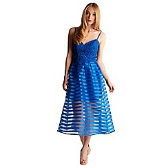Zibi London - Blue stripe organza skirt