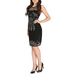 Mela - Black beaded detail dress