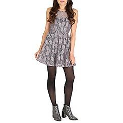 Mela - Silver sweetheart lace dress
