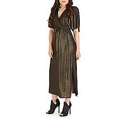Amaya - Gold foil maxi dress