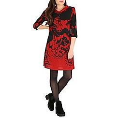 Amaya - Black floral print tunic