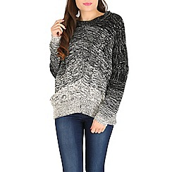 Amaya - Brown ombre cable knit jumper