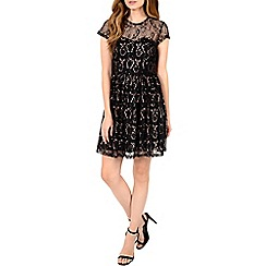 Alice & You - Black open back lace skater dress