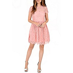 Alice & You - Pink open back lace skater dress