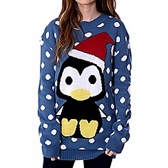 Alice & You - Blue penguin christmas jumper