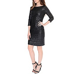 Alice & You - Black sequin sleeved bodycon dress