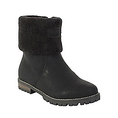 Keddo - Black fur lined boot