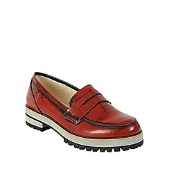 Keddo - Red chunky patent loafer