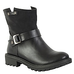 Betsy - Black buckle ankle boot