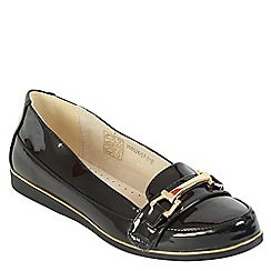 Betsy - Black buckle loafer