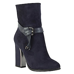 Betsy - Navy heeled ankle boot