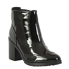 Betsy - Black patent ankle boot
