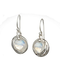 Banyan - Silver moonstone earrings