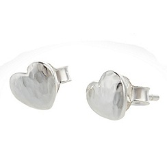 Banyan - Silver silver heart studs