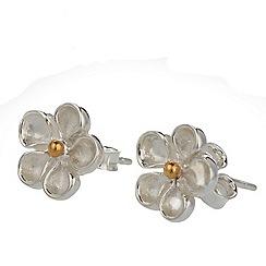 Banyan - Silver flower stud earring
