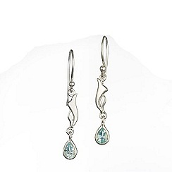 Banyan - Silver drop earrings