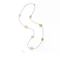 Banyan - Silver two tone filigree disc necklace