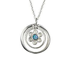 Banyan - Silver flower pendant set