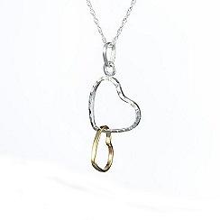 Banyan - Silver two tone heart pendant