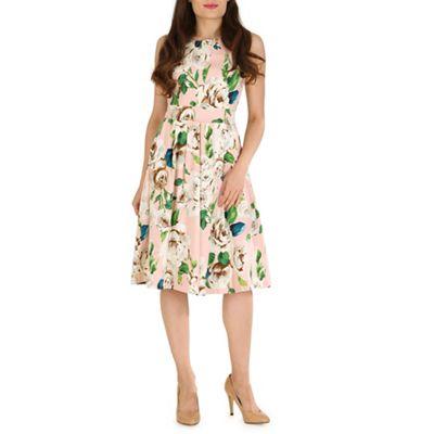 Jolie Moi Pink 50s floral print dress - . -