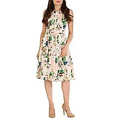Jolie Moi - Pink 50s floral print dress
