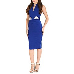 Jolie Moi - Royal lace applique bodycon dress
