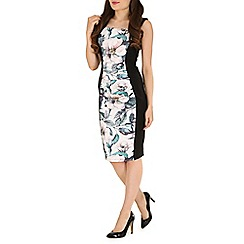 Jolie Moi - White floral print insert dress