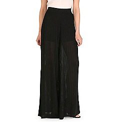 Damned Delux - Black wide leg palazzo trousers