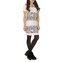 Damned Delux - Ivory suedette leopard dress