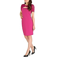Belle by Badgley Mischka - Pink twist front peekaboo