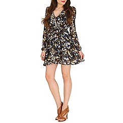 Madam Rage - Multicoloured floral wrapped dress
