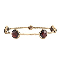 The Genuine Gemstone Company - Gold garnet vermeil bangle