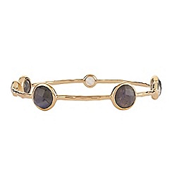 The Genuine Gemstone Company - Gold labradorite vermeil bangle