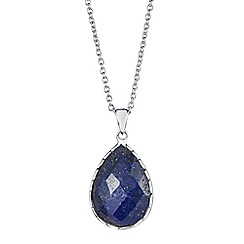The Genuine Gemstone Company - Silver lapis lazuli sterling silver necklace