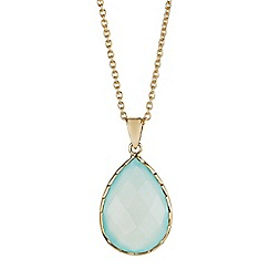 The Genuine Gemstone Company - Gold chalcedony vermeil necklace