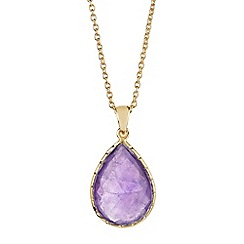 The Genuine Gemstone Company - Gold amethyst vermeil necklace