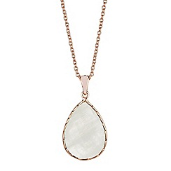 The Genuine Gemstone Company - Gold moonstone vermeil necklace