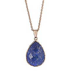 The Genuine Gemstone Company - Gold lapis lazuli rose gold vermeil necklace