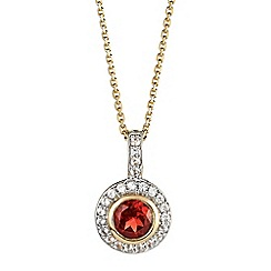 The Genuine Gemstone Company - Gold garnet vermeil necklace