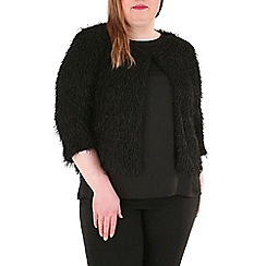 Samya - Black embellished tassel jacket